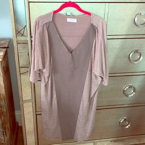 Taupe Faux Leather Dress